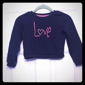 Gymboree Girl's Blue Sweat Shit with pink Love